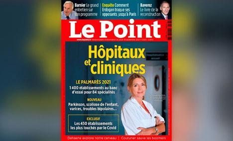 De belles performances dans le PALMARES des HOPITAUX et CLINIQUES de l'hebdomadaire Le Point